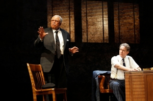 James Earl Jones and Boyd Gaines in DRIVING MISS DAISY (c) Jeff Busby