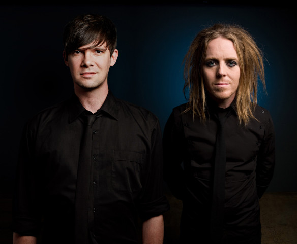 Toby Schmitz and Tim Minchin. Photo: James Penlidis/Ellis Parrinder
