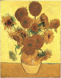 Still-Life--Vase-with-Fifteen-Sunflowers